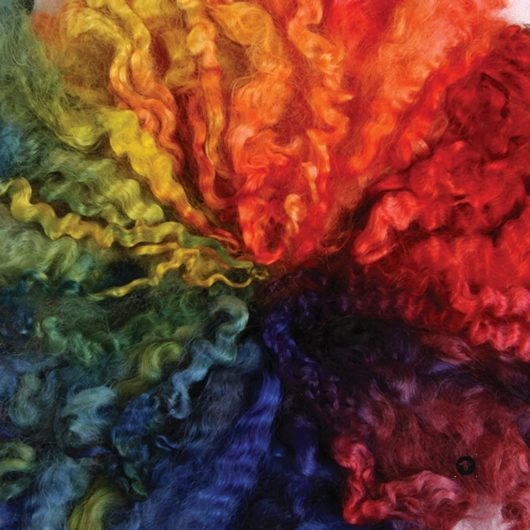 Ashford Rainbow Dyed English Leicester for sale on Wool Craft
