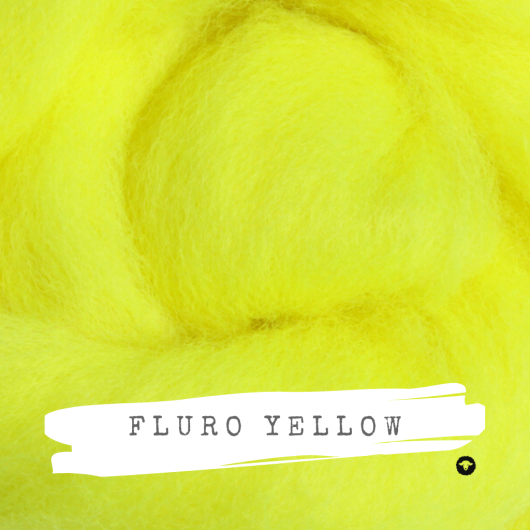 Ashford Fluro Corriedale Rovings available for sale on Wool Craft - Yellow