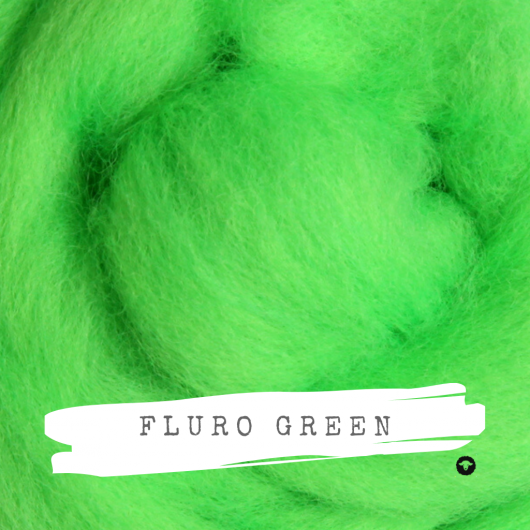 Ashford Fluro Corriedale Rovings available for sale on Wool Craft - Green
