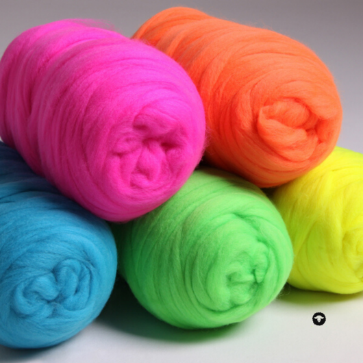 Ashford Fluro Corriedale Rovings available for sale on Wool Craft - 5 colours
